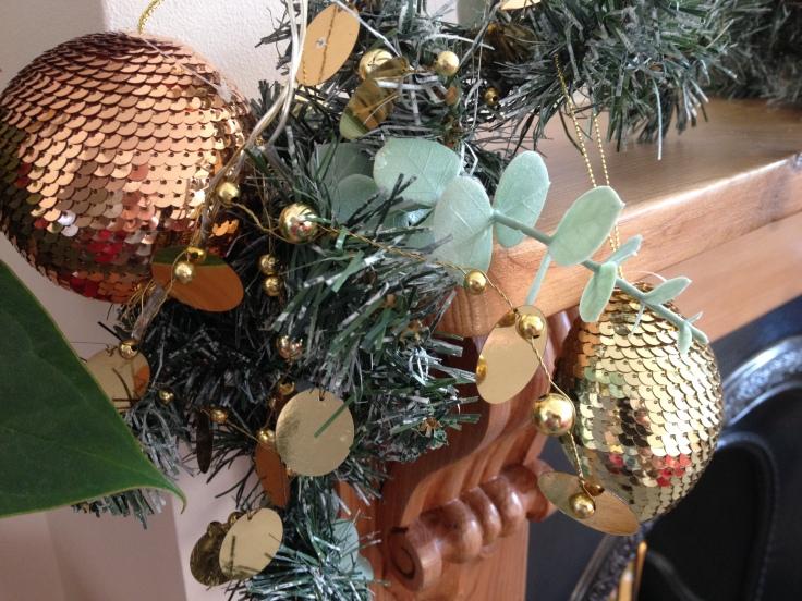 Christmas Bronze Glitter Balls